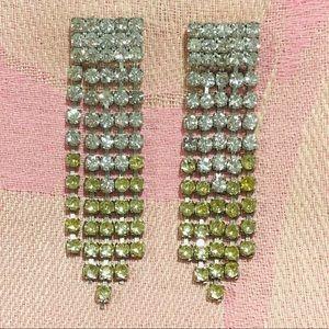 Vintage rhinestone earrings.